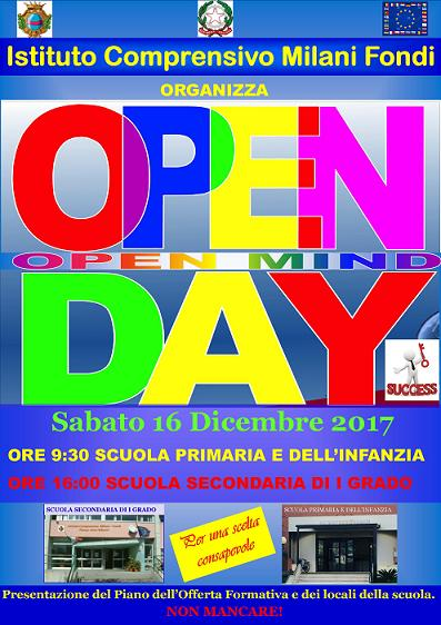manifesto open day RIDOTTO